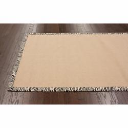 Handmade Alexa Eco Natural Fiber Cotton Zebra Jute Rug (8' x 10') - Thumbnail 1