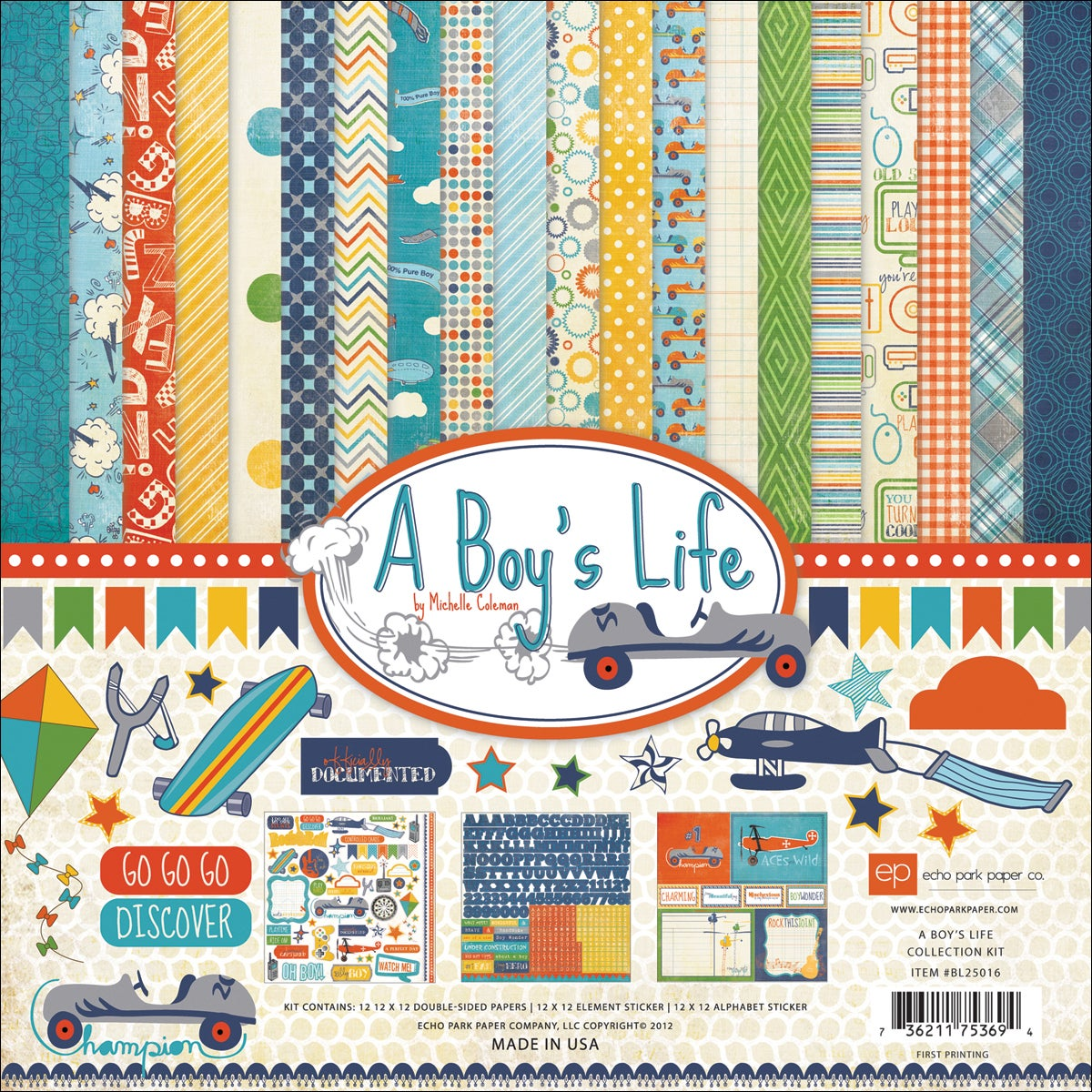 "A Boys Life Collection Kit 12""X12"""