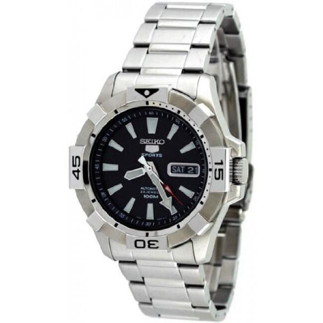 Seiko Men's Automatic Black Dial Watch