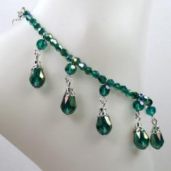 Emerald Green Crystal Wedding Jewelry Set - Thumbnail 1