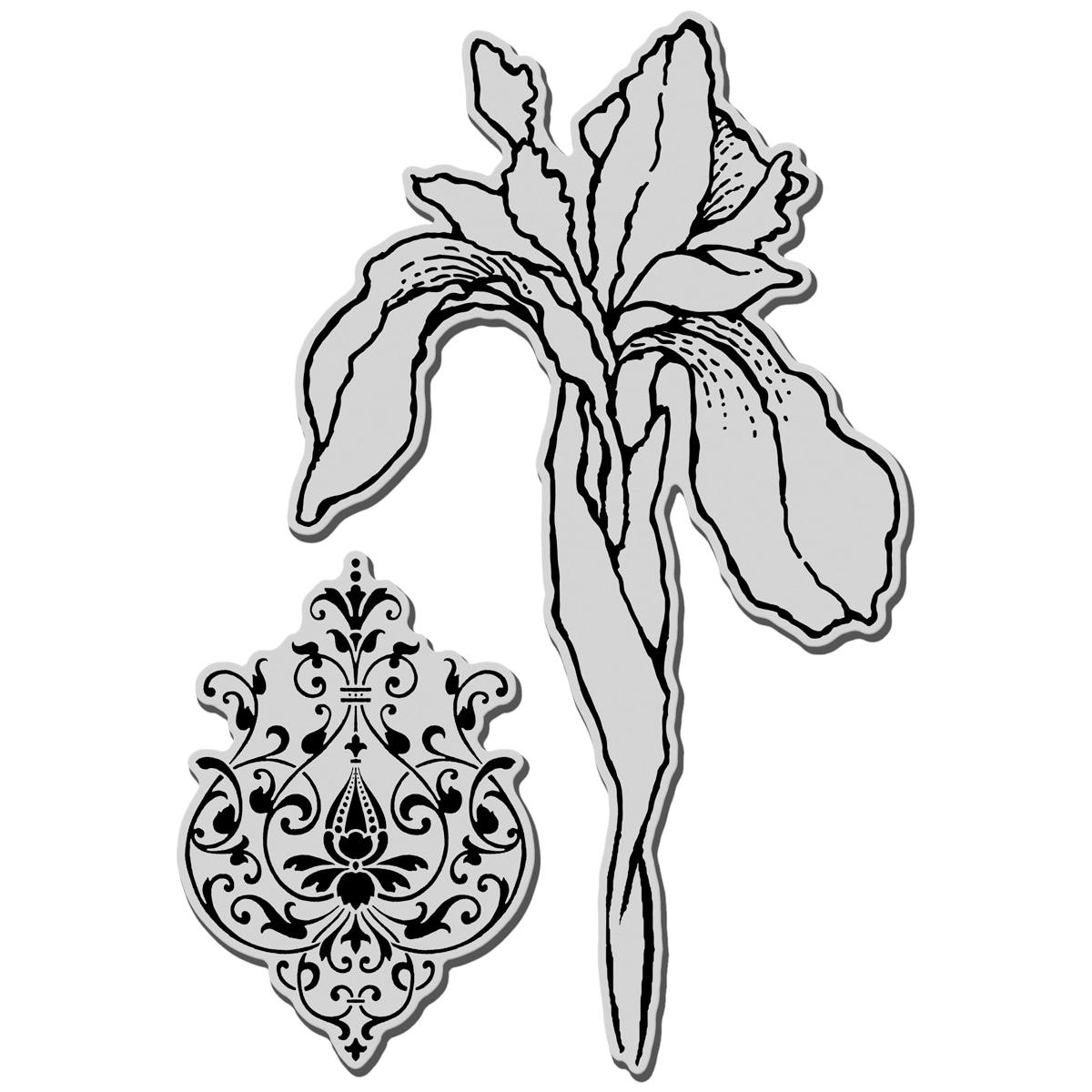 Stampendous Jumbo Cling Rubber Stamp-Iris