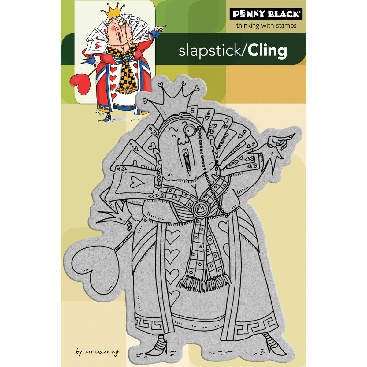 Penny Black Cling Rubber Stamp -Queen Of Hearts