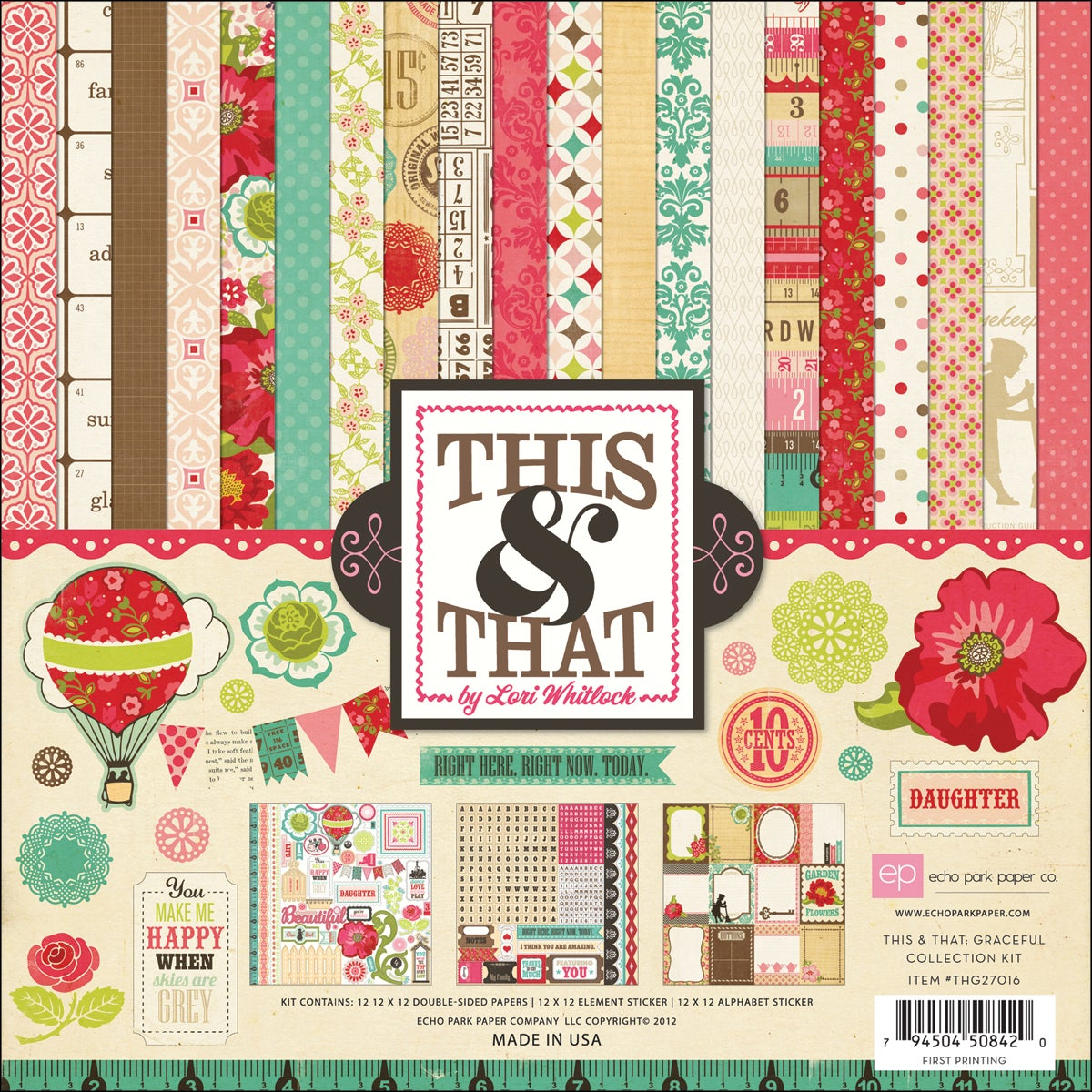 "This & That Graceful Collection Kit 12""X12"""