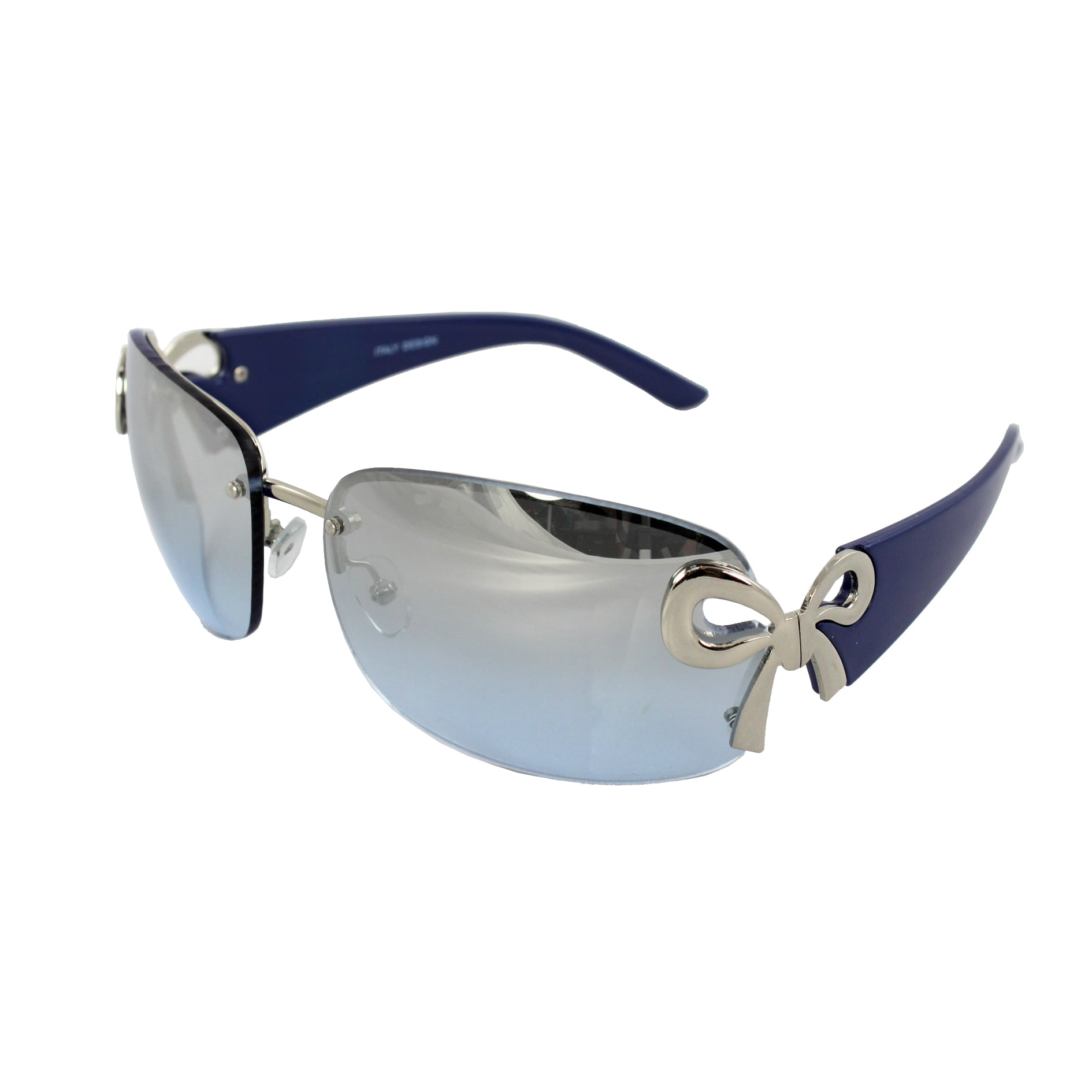 Rimless Butterfly Glasses : Womens Rimless Blue Frame Mirror Lens Butterfly ...