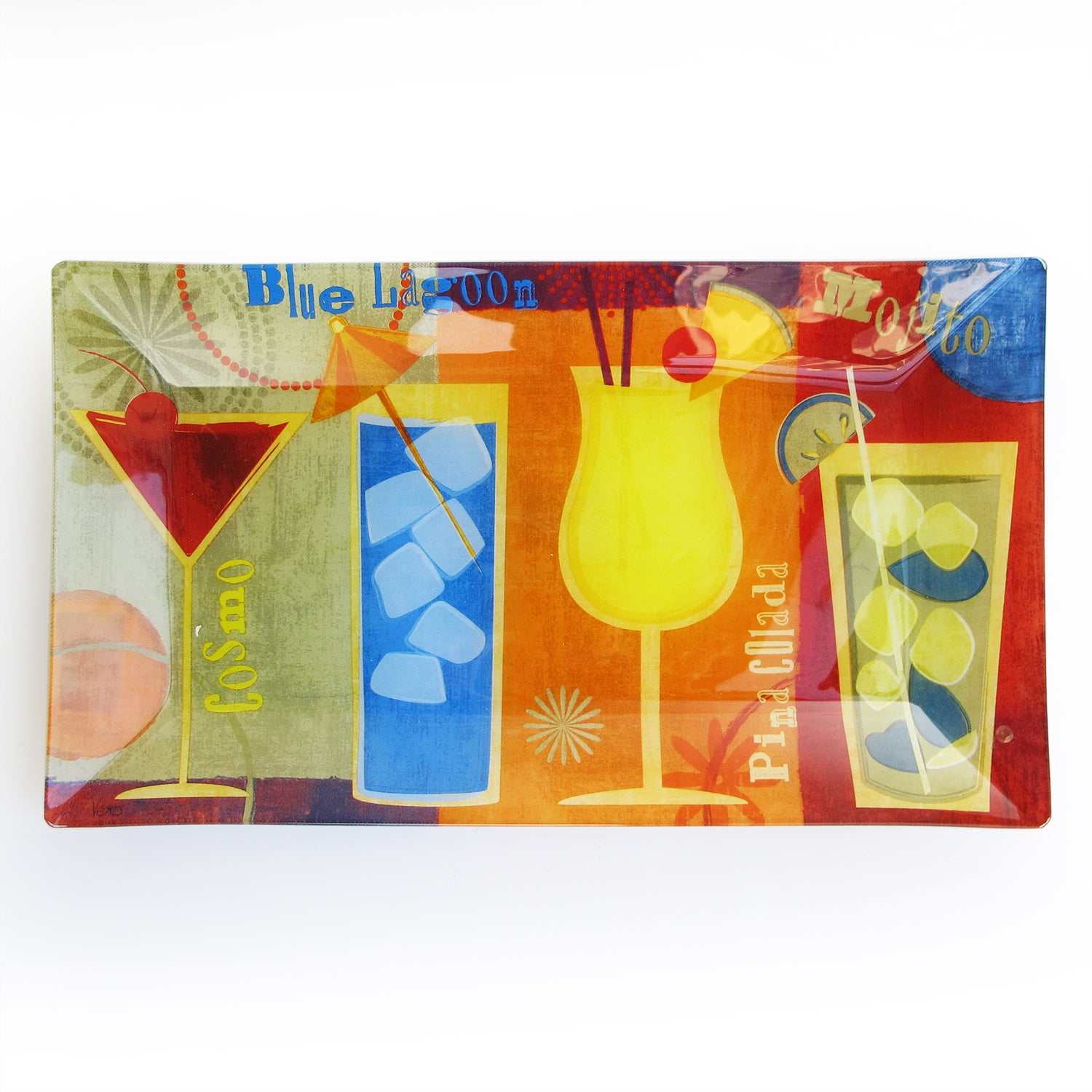 Notions by Jay Glitter Cocktail Serving Tray