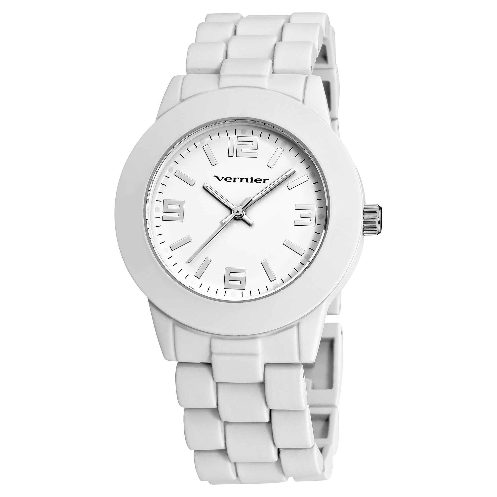 Vernier Women's Simple Beauty Basic Soft Touch Matte White Watch