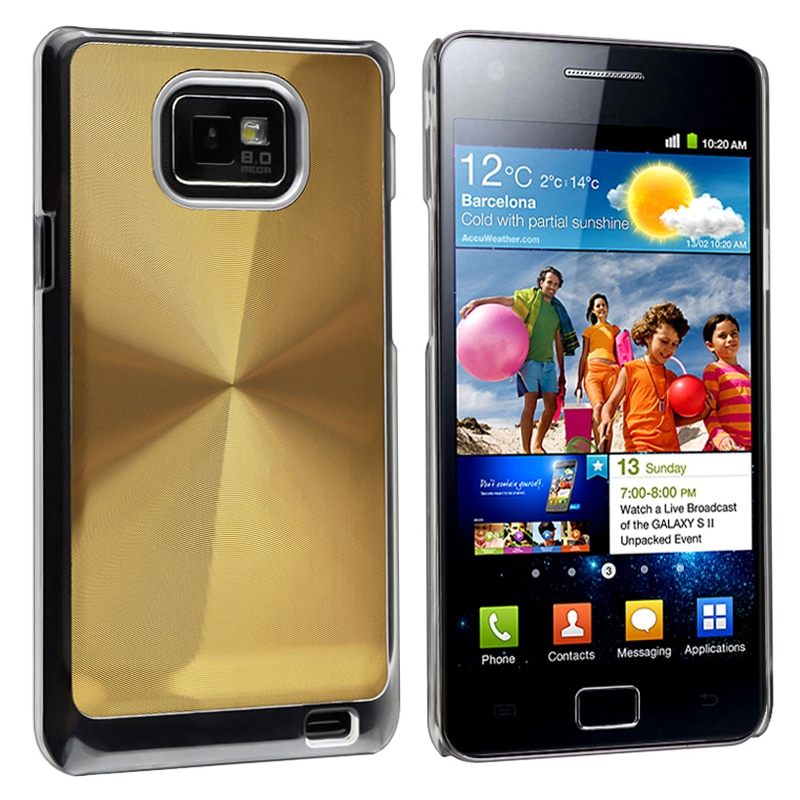 Golden Aluminum Snap-on Case for Samsung Galaxy S2 i9100