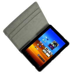 Black 360 Swivel Leather Case for Samsung Galaxy Tab 10.1 P750 - Thumbnail 1