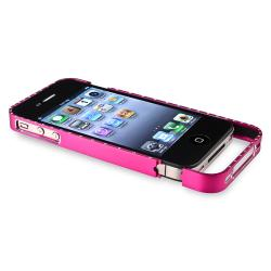 Hot Pink Bling Metal Bumper for Apple iPhone 4/ 4S - Thumbnail 1