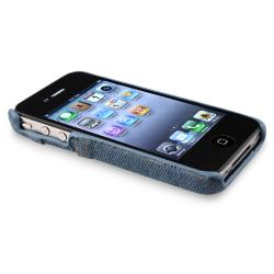 Light Blue Jean Rear Snap-on Case for Apple iPhone 4/ 4S - Thumbnail 1