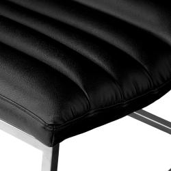Parisian Black Leather Sofa Chair by Christopher Knight Home