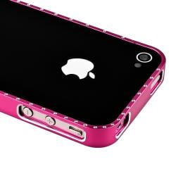Hot Pink Bling Metal Bumper for Apple iPhone 4/ 4S - Thumbnail 2