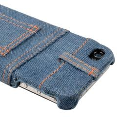 Light Blue Jean Rear Snap-on Case for Apple iPhone 4/ 4S - Thumbnail 2