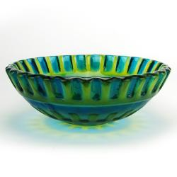 Fontaine Blue Glass Vessel Sink - Thumbnail 1