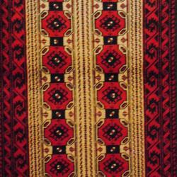 Persian Tribal Balouchi Camel/ Red Wool Rug (3'6 x 5'6) - Thumbnail 1