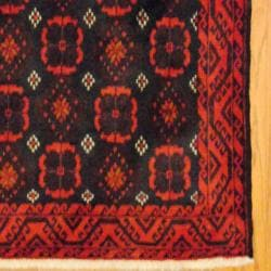 Persian Tribal Balouchi Brown/ Navy Wool Rug (3'5 x 6'2) - Thumbnail 2