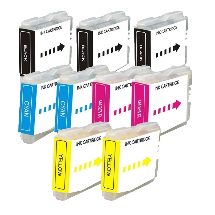 Brother LC51 Compatible Black /Color Ink Cartridges (Pack of 9)