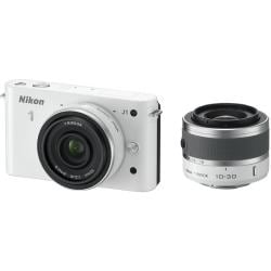 Nikon 1 J1 10.1MP White Digital Camera with 10-30mm Lens