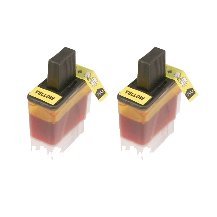 Brother LC41 Compatible Yellow Ink Cartridges (Pack of 2)