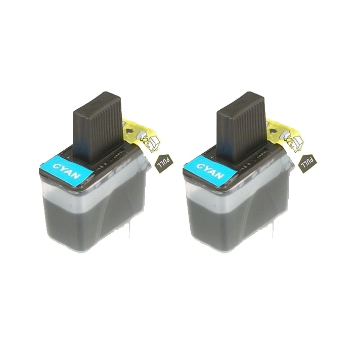 Brother LC41 Compatible Cyan Ink Cartridges (Pack of 2)