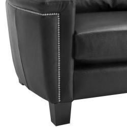 Charlotte Black Italian Leather Sofa/ Loveseat Set