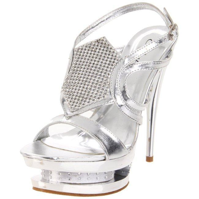 Celeste Women's 'Alude-01' Silver Platform Heels