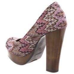 Riverberry Women's 'Zooey' Chestnut/ Pink Platform Heels
