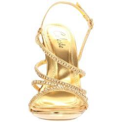 Celeste Women's 'Hana-13' Gold Rhinestone Sandals - Thumbnail 1