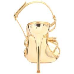 Celeste Women's 'Hana-13' Gold Rhinestone Sandals - Thumbnail 2