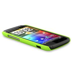 BasAcc Neon Green Rear Snap-on Rubber Coated Case for HTC Sensation