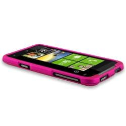 BasAcc Pink Snap-on Rubber Coated Case for HTC Titan - Thumbnail 2