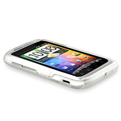 BasAcc Frost White S Shape TPU Rubber Skin Case for HTC Wildfire S - Thumbnail 2