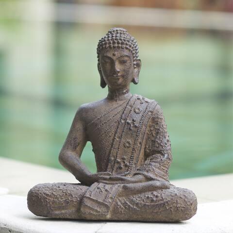 Handmade Volcanic Ash Nirvana Buddha (Indonesia)
