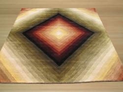 EORC Hand-tufted Wool Multi Desert Star Rug (6' Square)