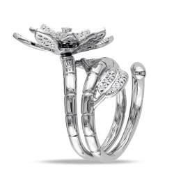 Miadora  14k White Gold 4/5ct TDW Diamond Flower Ring (G-H, SI1-SI2) - Thumbnail 1