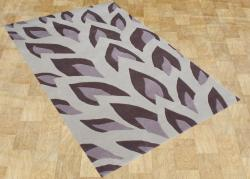 Hand Made Flame Inspiration Hushed Violet NewZealand Blend Wool Rug 8x10
