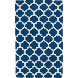 Hand-woven Blue Wool Blinov Rug (8' x 11')