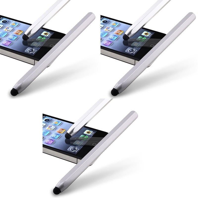 Silver Metal Stylus for Apple iPhone/ iPod/ iPad (Pack of 3)