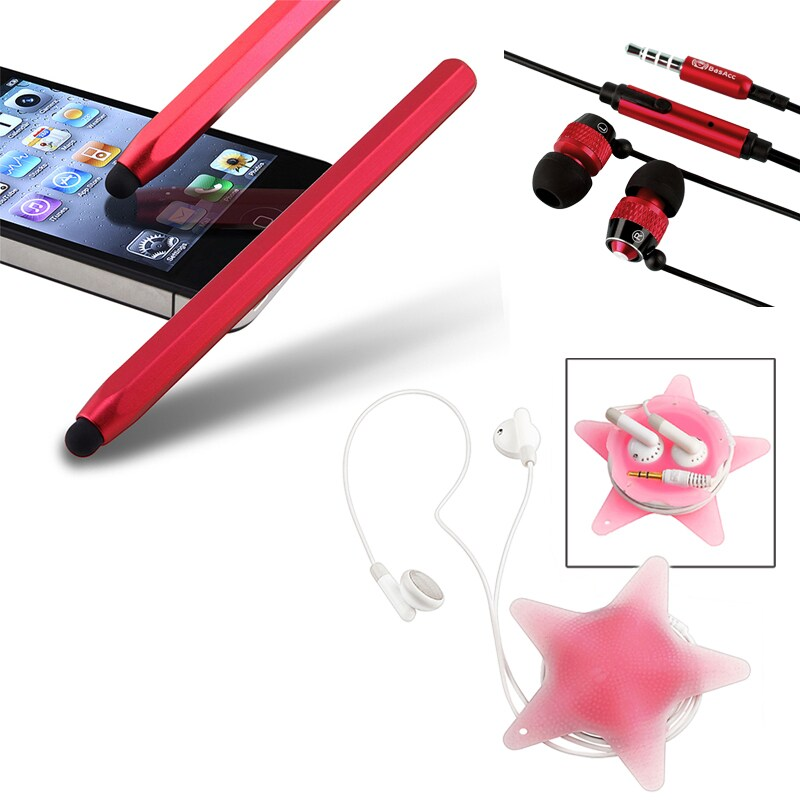 BasAcc Red Stylus/ Headset/ Wrap for Apple iPhone/ iPad
