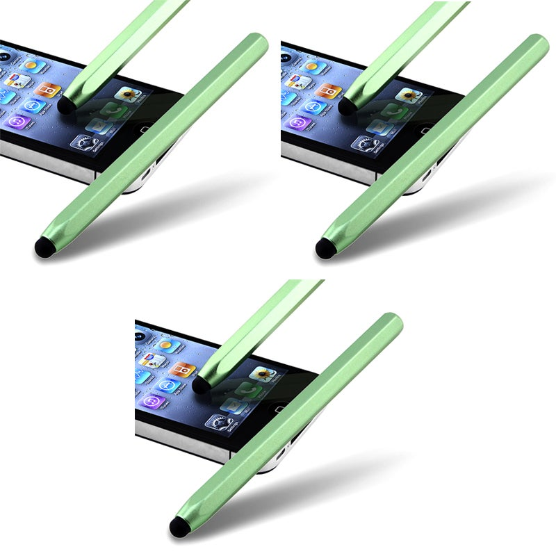 Green Metal Stylus for Apple iPhone/ iPod/ iPad (Pack of 3)