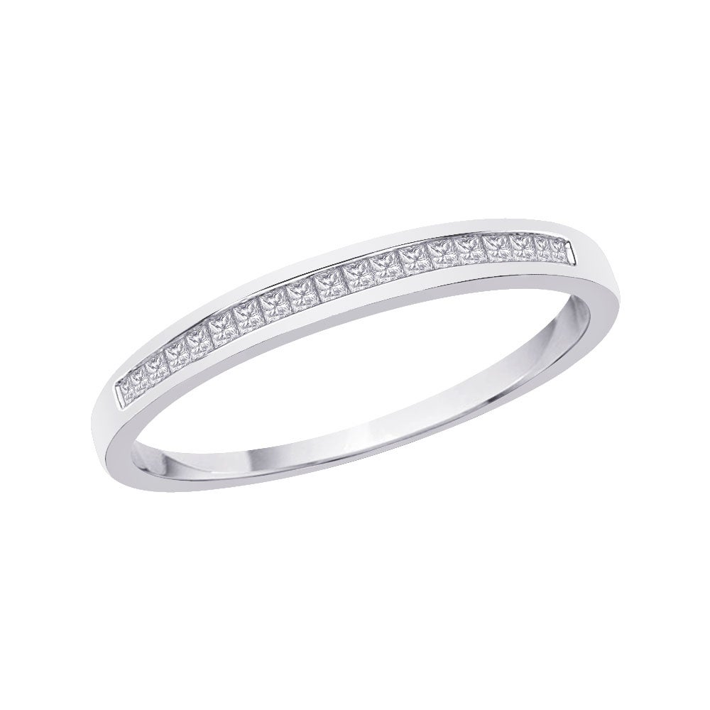 10k White Gold 1/5ct TDW Diamond Wedding Band - Thumbnail 0