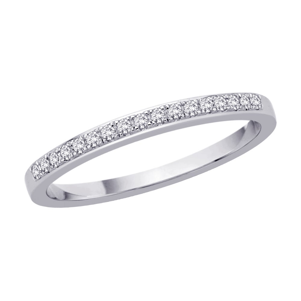 10k White Gold 1/6ct TDW Diamond Eternity Wedding Band (G-H, I2-I3) - Thumbnail 0