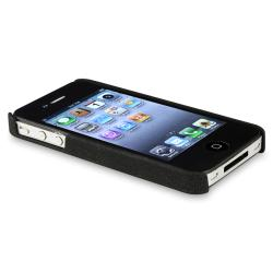 Black Matte Case/ LCD Protector/ Wrap/ Cable for Apple iPhone 4S - Thumbnail 2