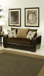 Furniture of America Benosa Micro Velvet Cushion Loveseat