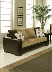 Furniture of America Benosa Micro Velvet Sofa