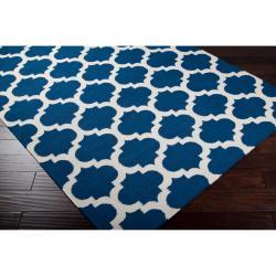 Hand-woven Blue Wool Blinov Rug (3'6 x 5'6) - Thumbnail 1