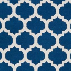 Hand-woven Blue Wool Blinov Rug (3'6 x 5'6) - Thumbnail 2