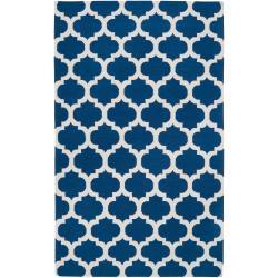 Hand-woven Blue Wool Blinov Rug (3'6 x 5'6)