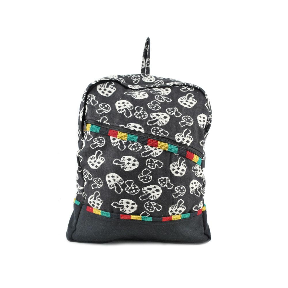 Mushroom Rasta Fabric Backpack (Nepal)