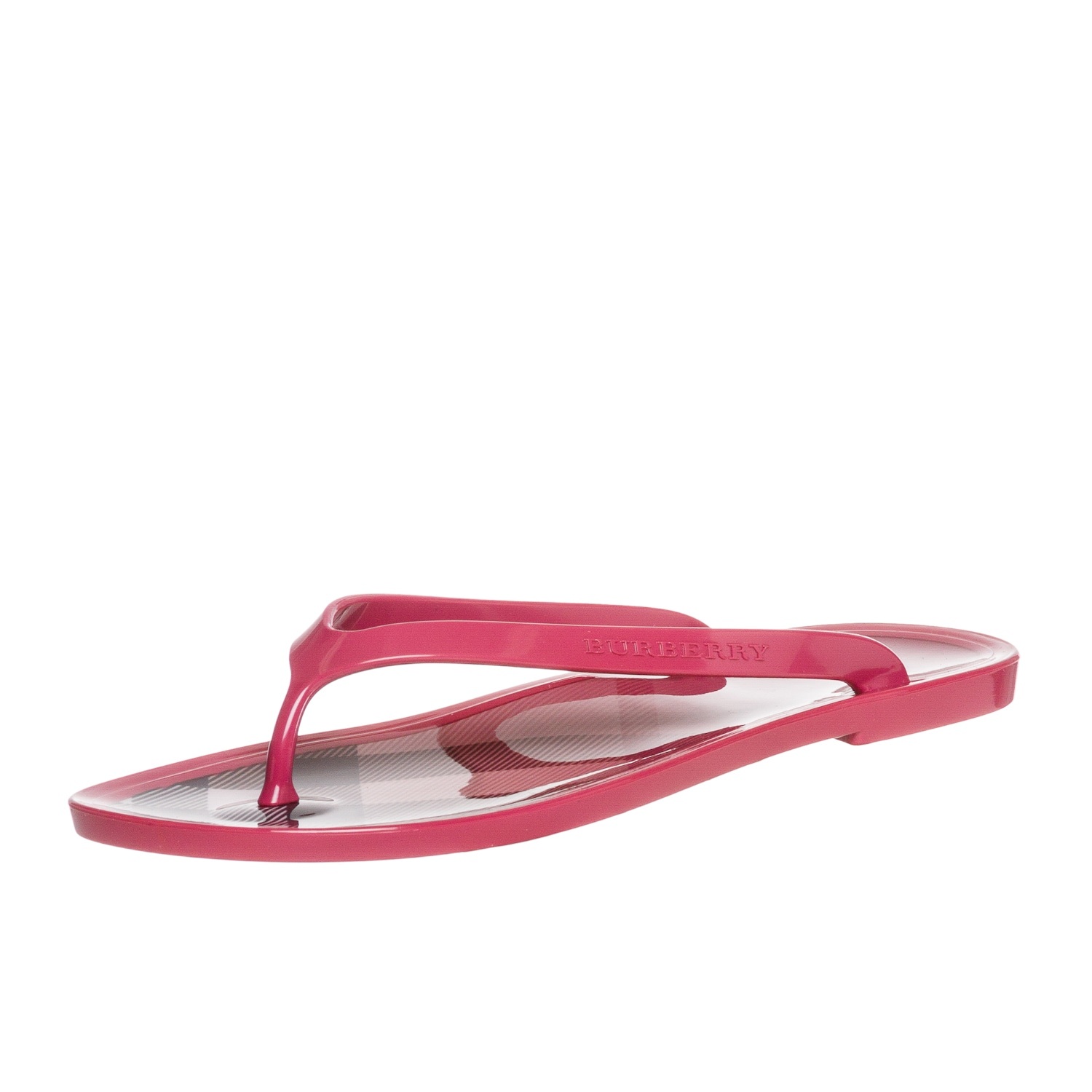 Burberry Women's 'Nova Check' Pink Jelly Flip-Flops